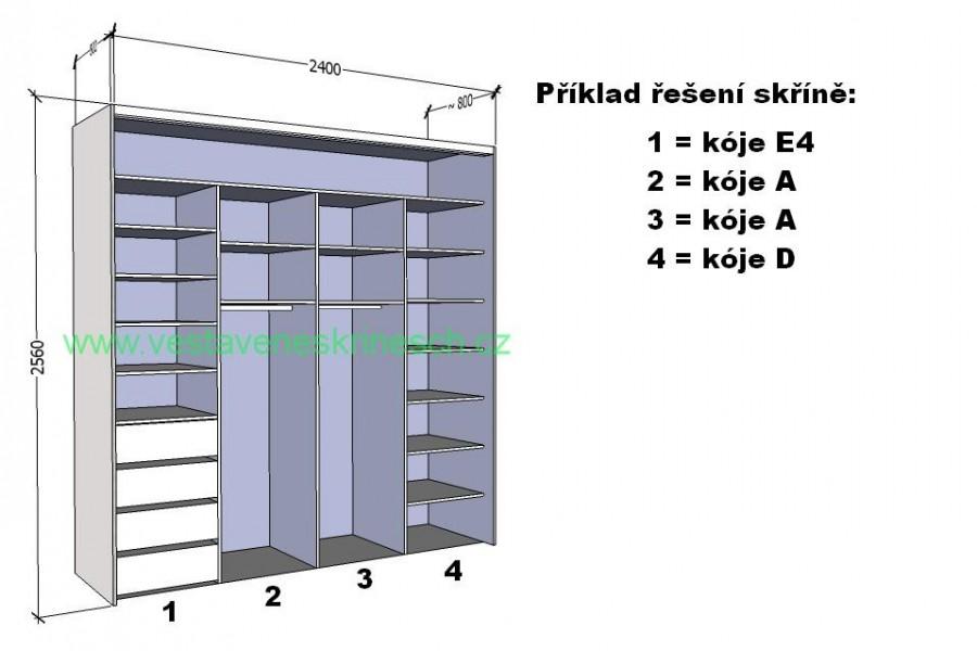 Příklad značení - vzorová skříň